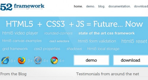 HTML5 CSS3 Most Useful 5+ Web Frameworks