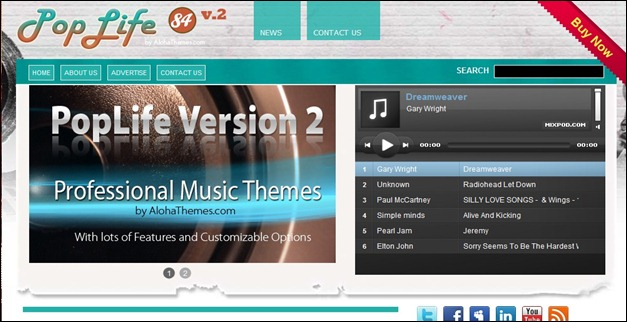 20 Top Web Designs Music WordPress Themes