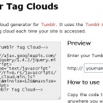 Tumblr Tag Clouds