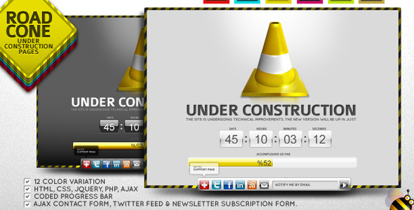 15+ All Time Favorite Premium Under construction Template