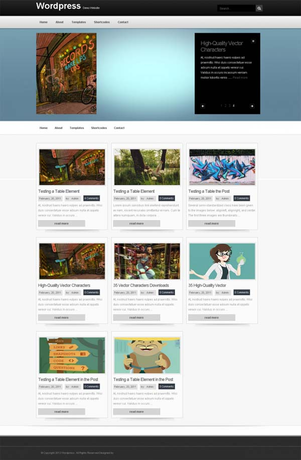 Glowing Style WordPress Themes August 2012
