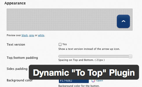 "dynamic ""To Top"" Plugin"
