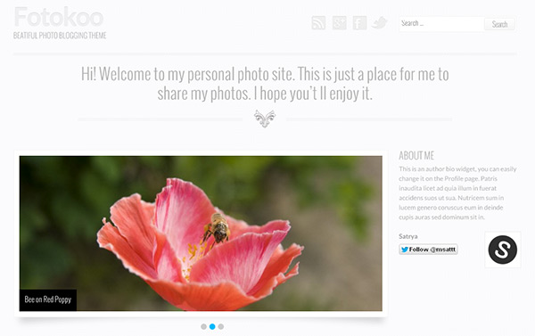 Fotokoo WordPress Theme