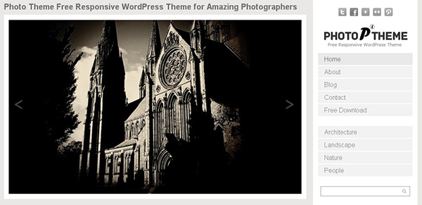 Simple Photo WordPress Theme