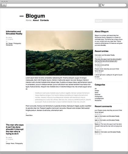 Blogum Theme