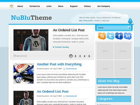 Nublu - WordPress Theme