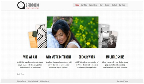 Grid Folio WordPress Theme