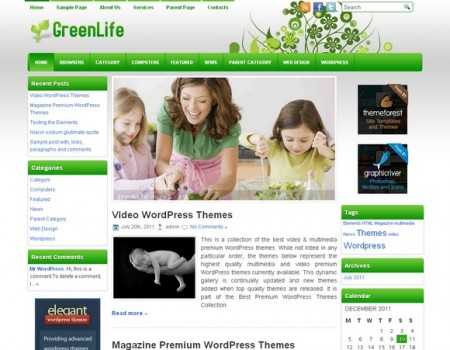 Health Green Wp Theme