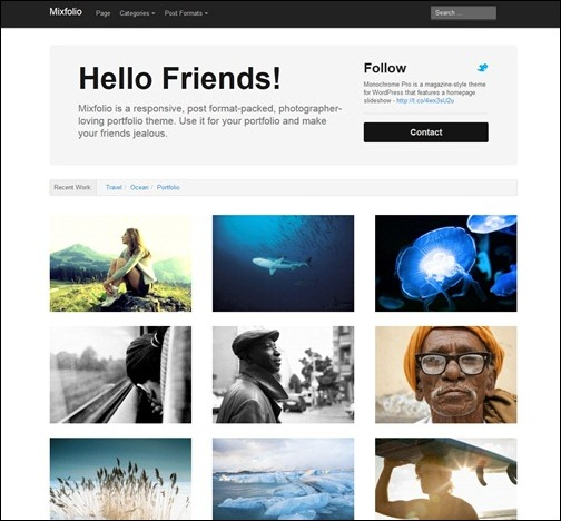 Mixfolio Minimalist WordPress Theme