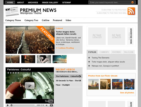 Original Premium News Theme