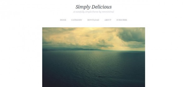 Simply Delicious Theme