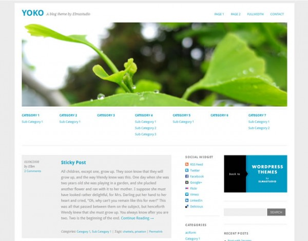 Yoko Minimalist WordPress Themes