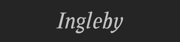 clean fonts ingleby