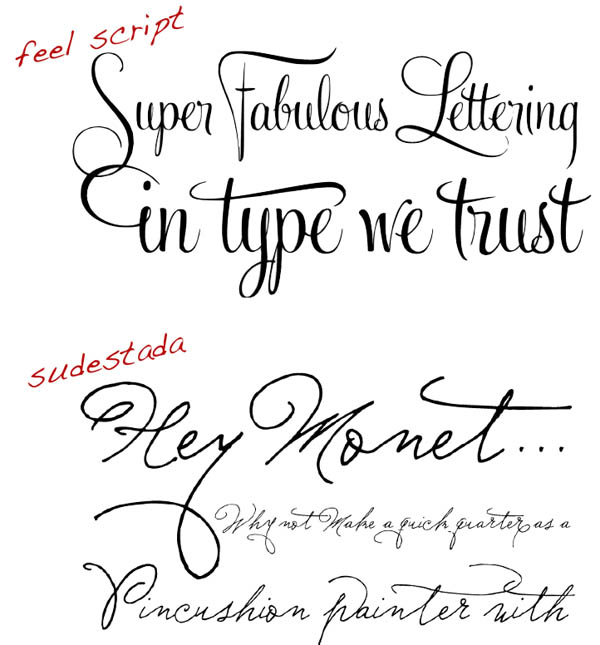 Beauty of Script Fonts And Useful Fonts Examples | ThemesCompany