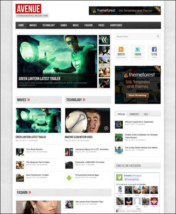avenue cool wordpress theme