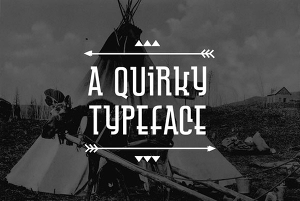 a quirky type face