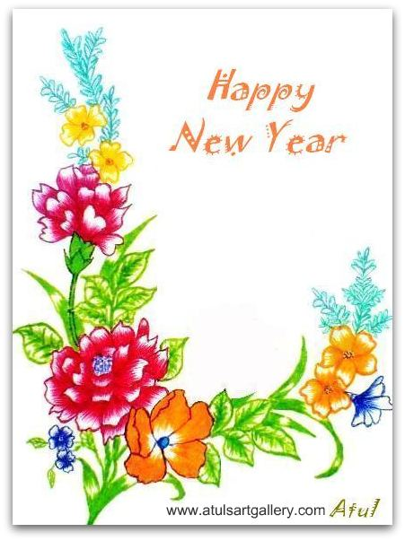 40 cool new year greeting cards themescompany rose greeting cards m4hsunfo