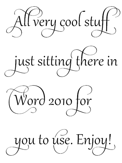 20+ Cool Fonts Of MS Word