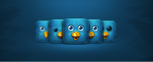 block look of twitter bird
