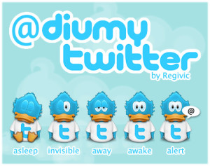 twitter birdies showing online status icon