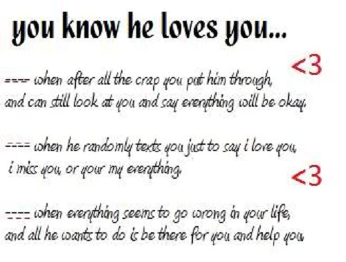 Sweet Funny I Love You Quotes : You Know He Loves You