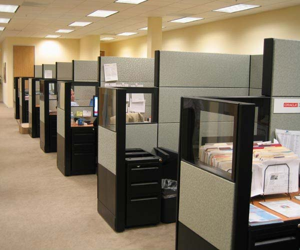 The top five trends in office cubicle design themescompany for Best cubicle design