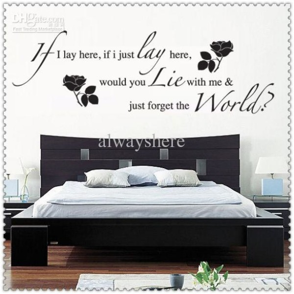Bedroom Quote Wall Stickers All About Wall Stickers, Bedroom Designs