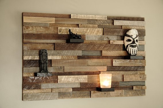 Attractive Wall Decoration And Reclaimed Wood Wall Art ThemesCompany