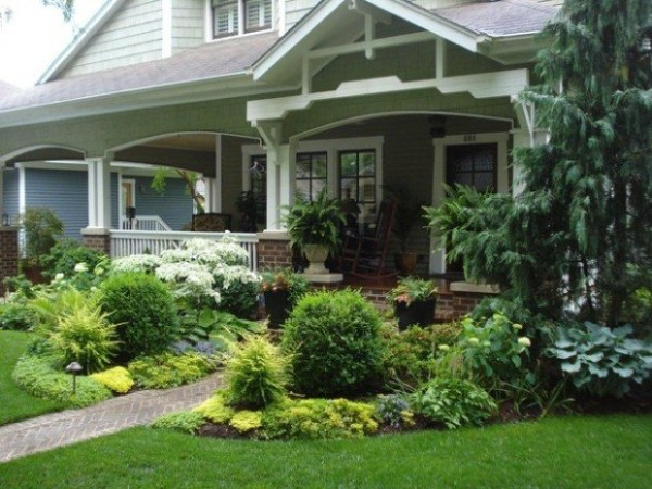 Surprising and cool idea for small front yard landscaping for Craftsman landscape design ideas