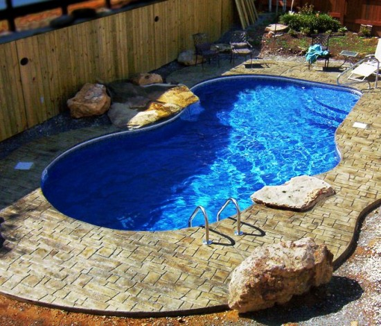 Small Yard Inground Swimming Pools : Eye catching and cool ideas of pool design for backyard