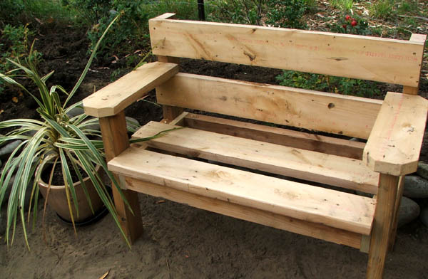 Woodworking outdoor bench design PDF Free Download